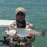 a rockport fisherman with a sea trout