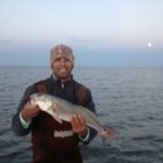 a rockport redfish caught in the winter-time