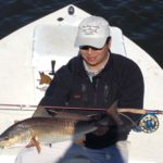 a fly fisherman who caught a redfish